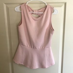 Pink Peplum Forever 21 Top